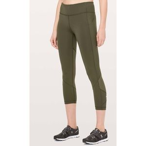 """Pace rival crop 22"""" army green never worn size 2-4"""